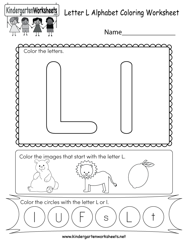 This Is A Cute Letter L Worksheet For Kindergarteners. Kids