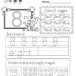 This Is A Fun Number 8 Worksheet. Children Can Trace The