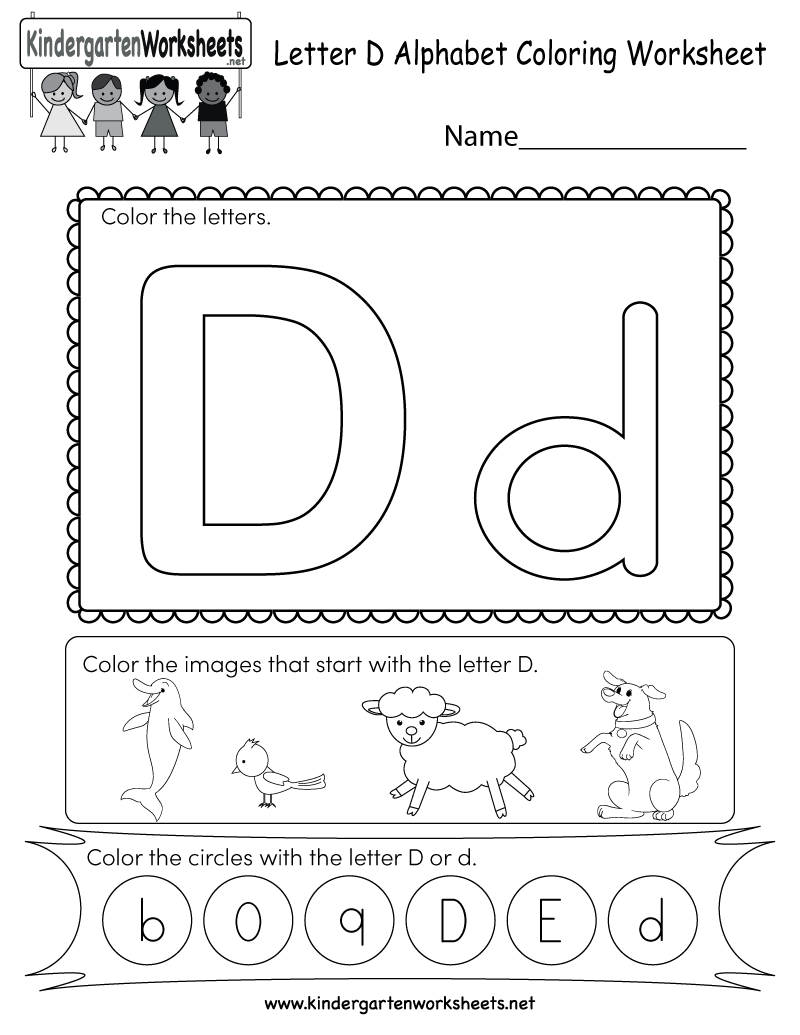 This Is A Letter D Coloring Worksheet. Kids Can Color The