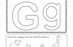 Preschool Worksheets Letter G
