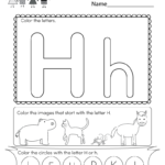 This Is A Letter H Coloring Worksheet. Children Can Color
