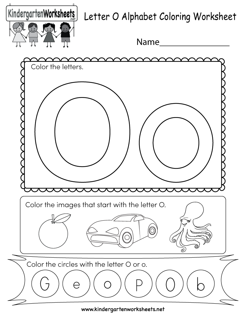 This Is A Letter O Coloring Worksheet. Kindergarteners Can