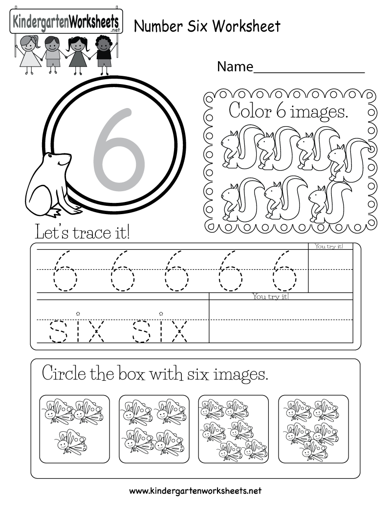 This Is A Number 6 Worksheet. Children Can Trace The Number