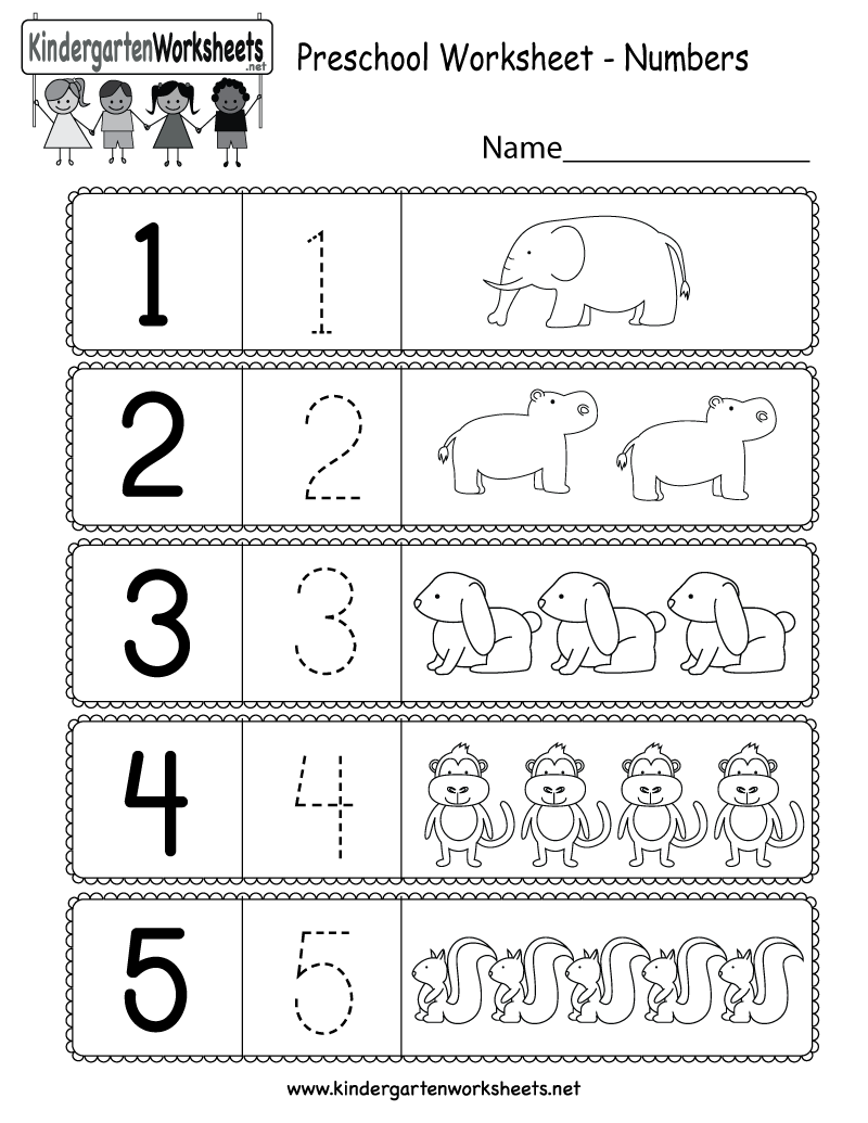 This Is A Preschool Numbers Worksheet. Kids Can Learn How To