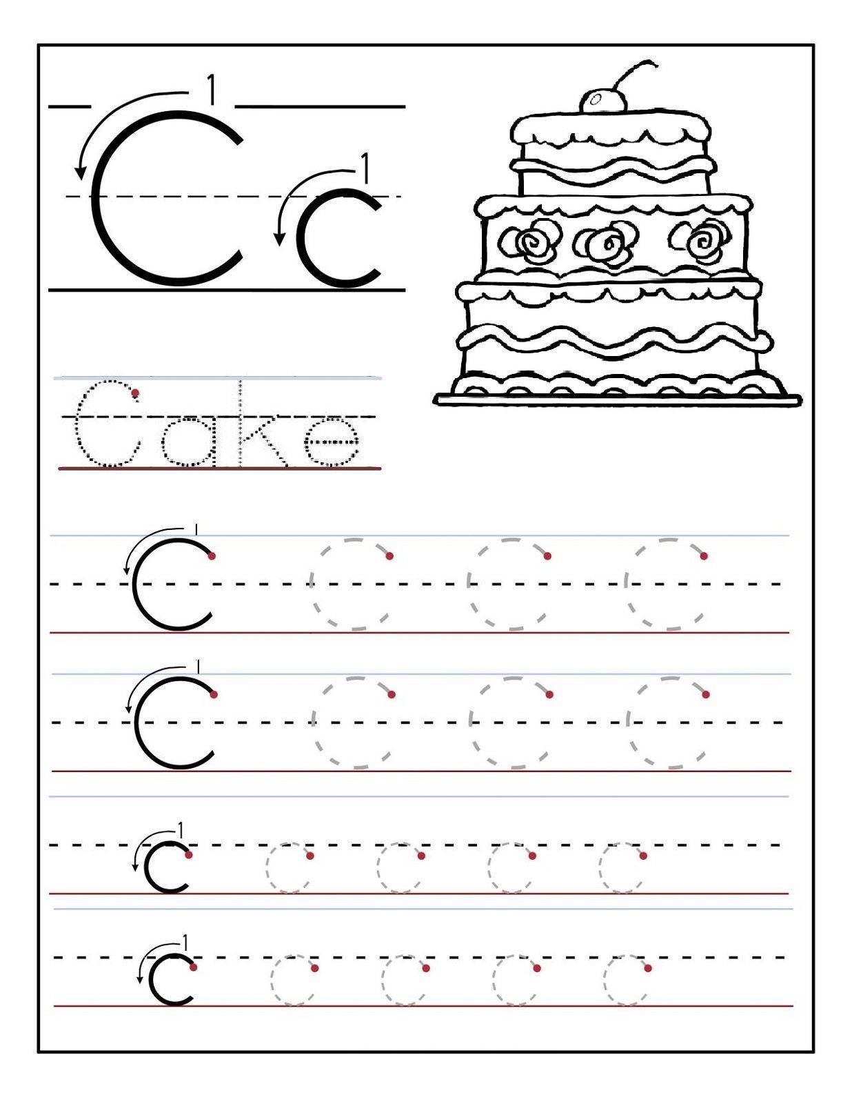 Trace The Letter C Worksheets | Alphabet Worksheets