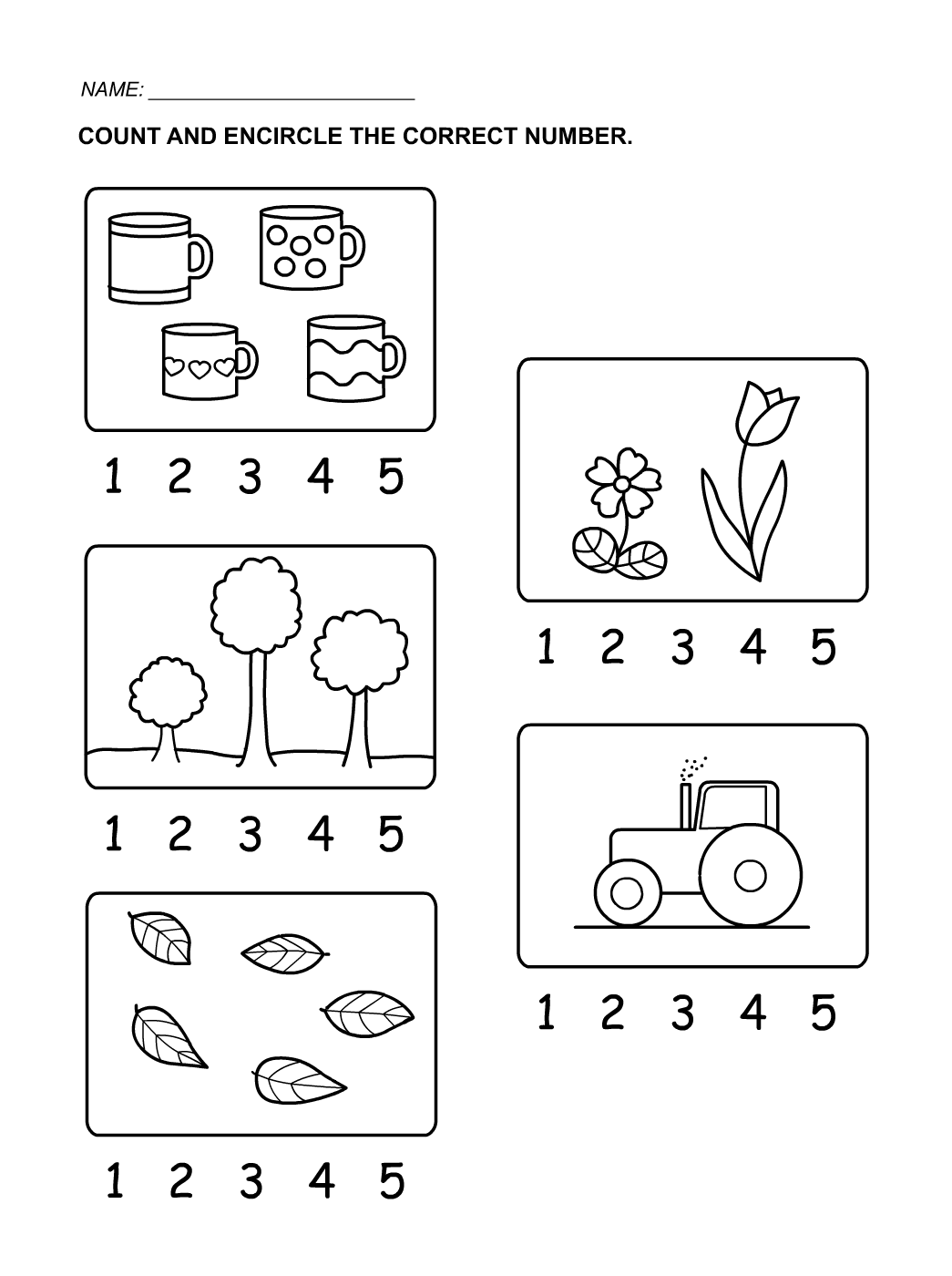 Tracing Numbers 1-5 For Kids | Kids Learning Numbers