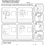 Weather Worksheet For Kids In 2020 | Weather Worksheets