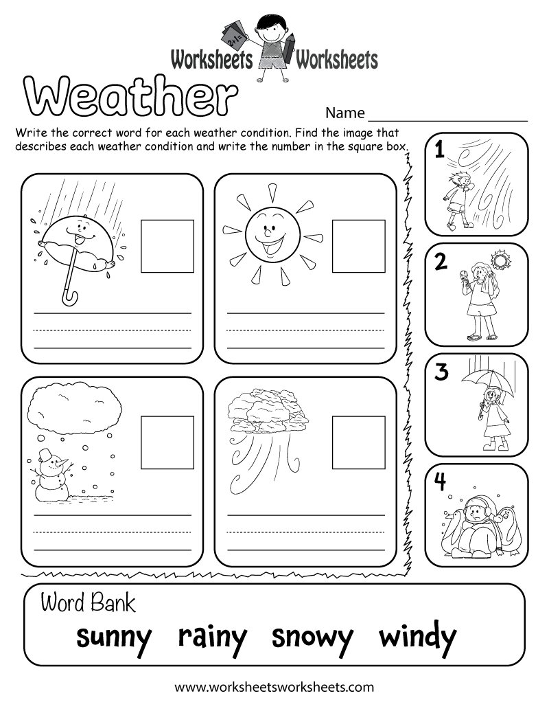 Weather Worksheet For Kids In 2020   Weather Worksheets