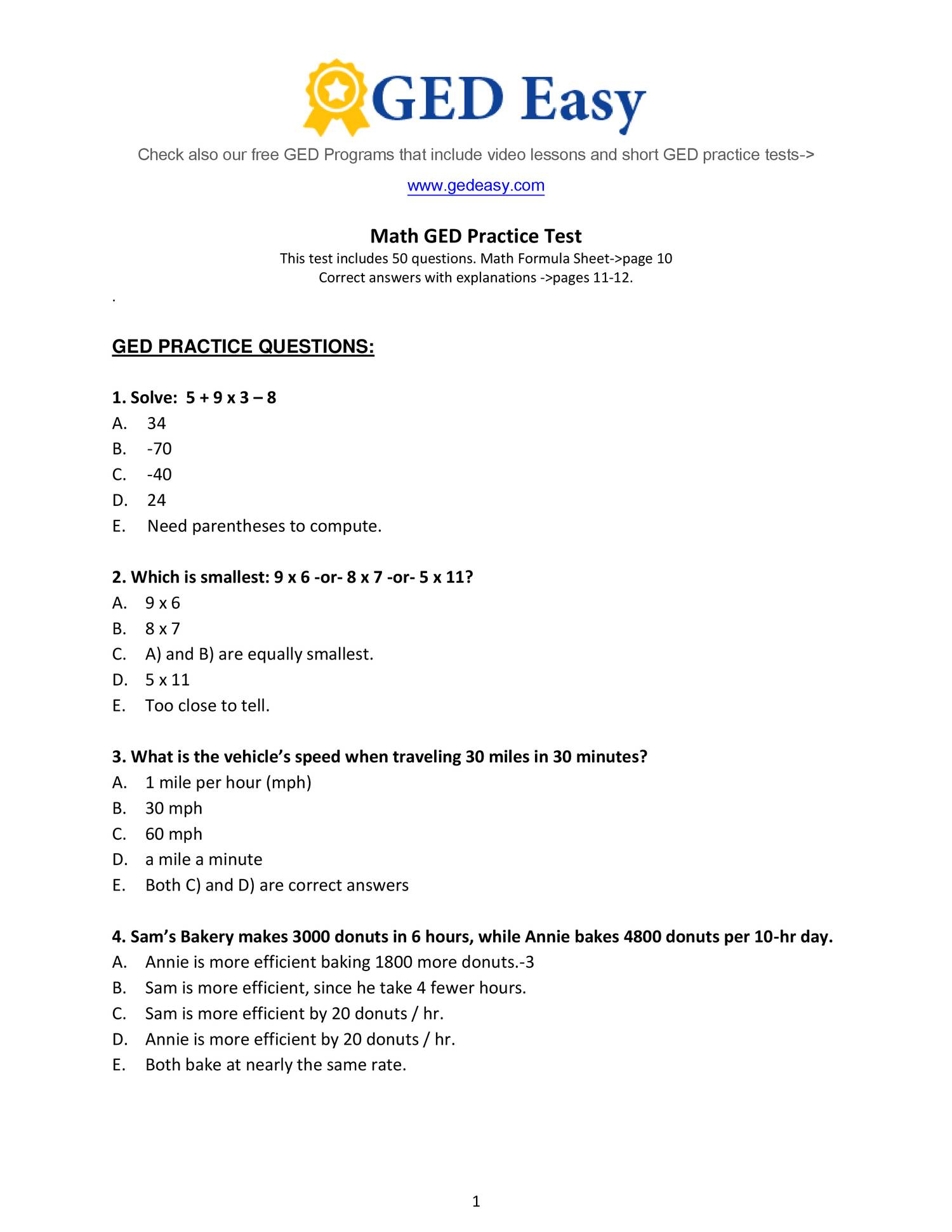 Week 15 Homework Adv Math- Printable-Ged-Math-Practice-Test2