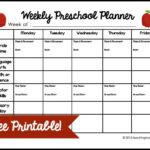 Weekly Preschool Planner | Preschool Lesson Plan Template