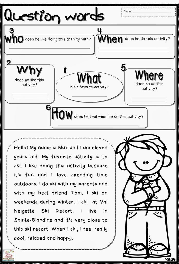 Wh Question Worksheets | Reading Comprehension Worksheets