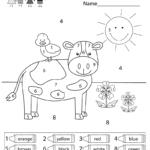 Worksheet ~ Colornumber Worksheettable Extraordinary