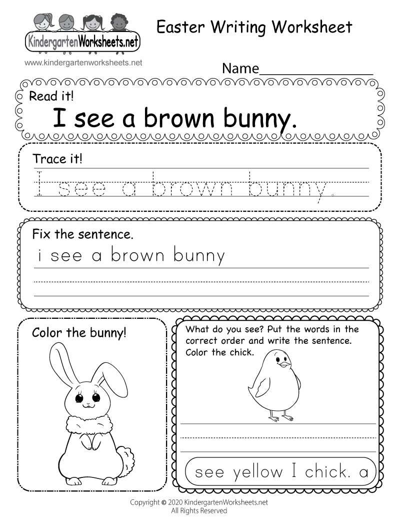 Worksheet ~ Easter Writing Worksheet Printable Outstanding