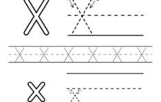 Letter X Preschool Worksheets