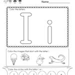 Worksheet ~ Irksheets For Preschool Letter Alphabet