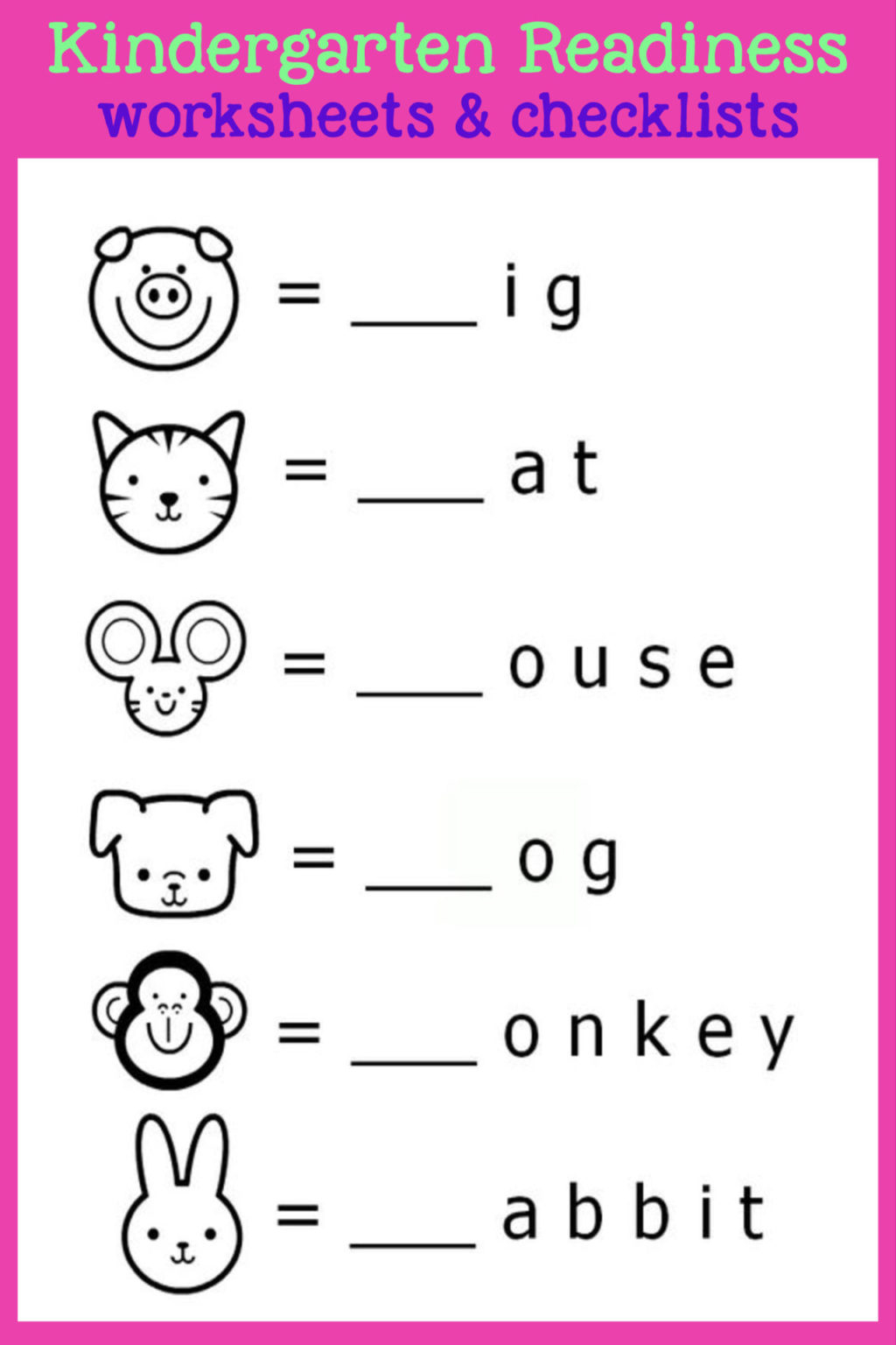 Worksheet ~ Kindergarten Readiness Checklists Free Printable