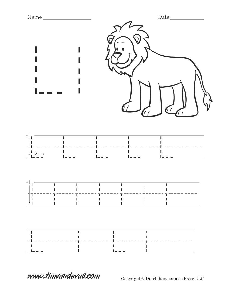 Worksheet Letter L Preschool   Kids Activities