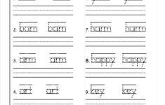 Preschool Worksheets Handwriting