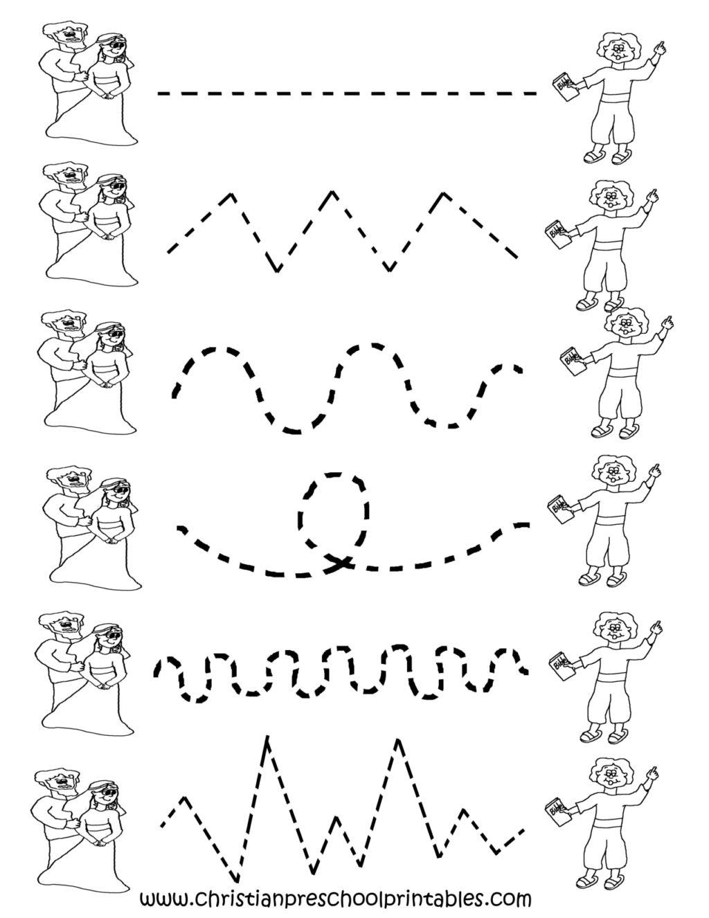 Worksheet ~ Preschool Tracing Worksheets Cakepins Com