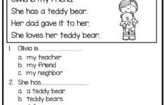 Preschool Worksheets Reading