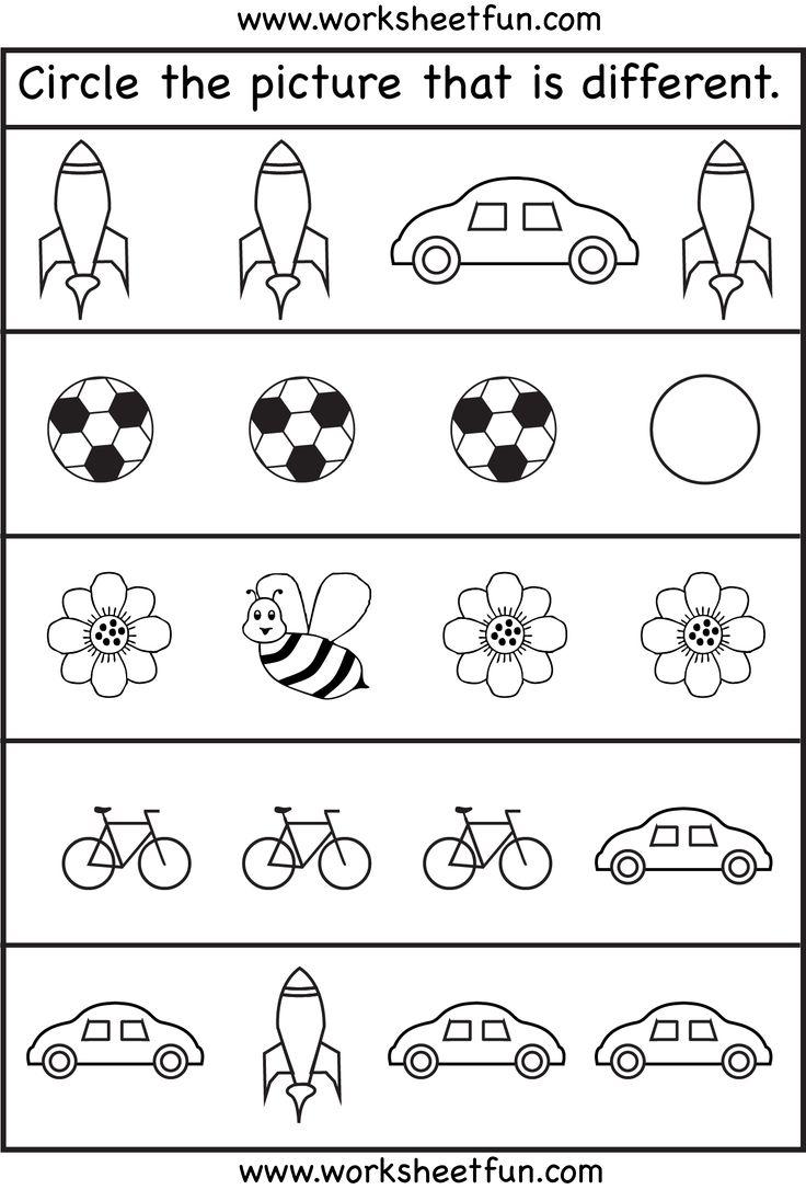 Worksheet ~ Same Or Differentrksheets For Toddler