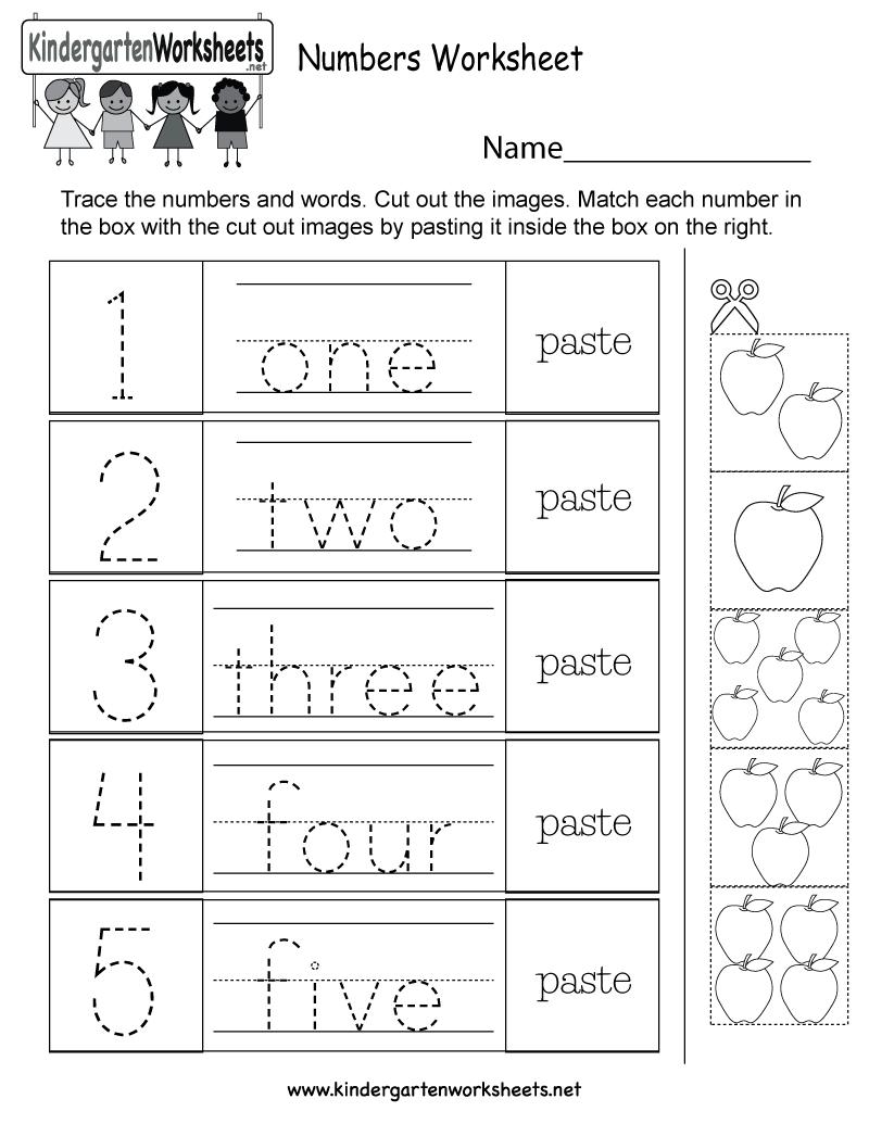 Worksheet ~ Splendi Kindergarten Worksheets Numbers Photo