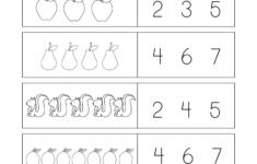 Preschool Worksheets With Numbers