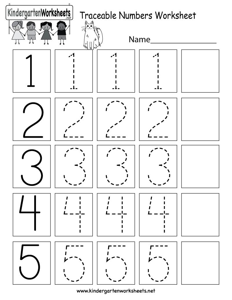 Worksheet Traceable Numbers Freeergarten Math For Kids