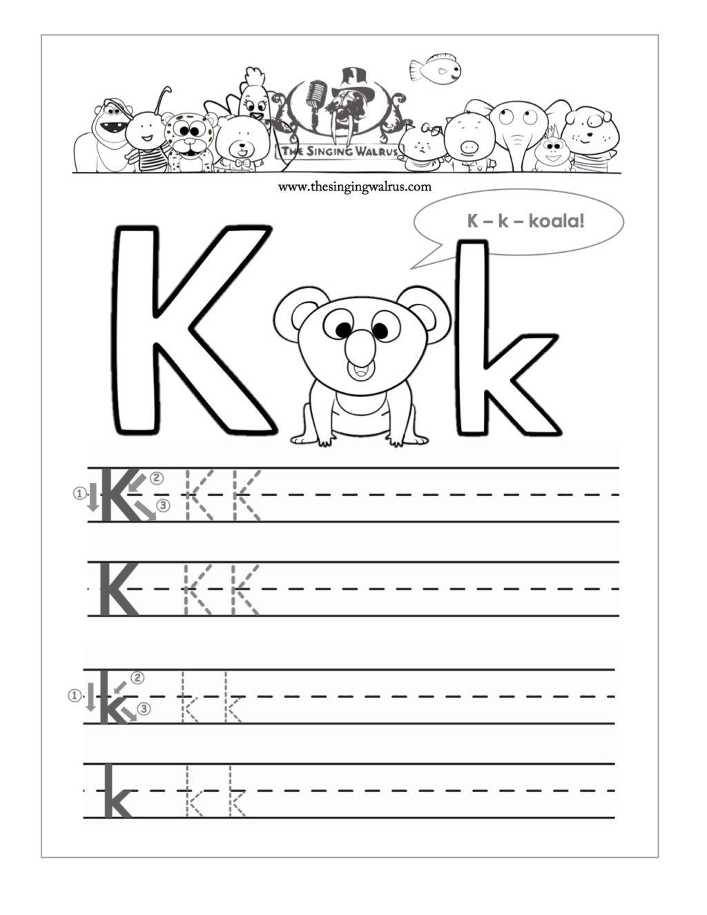 Worksheet ~ Worksheet Letter K Preschool Worksheets Free For