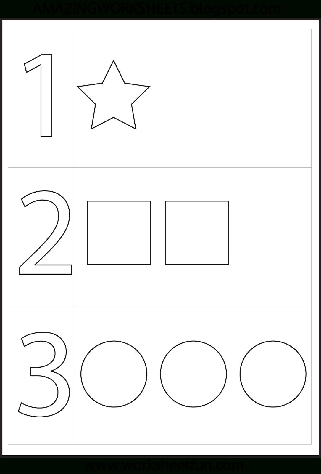 Worksheetfun - Free Printable Worksheets | Numbers Preschool
