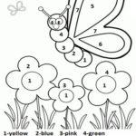 Worksheets : Colornumber Spring Worksheet For Kids