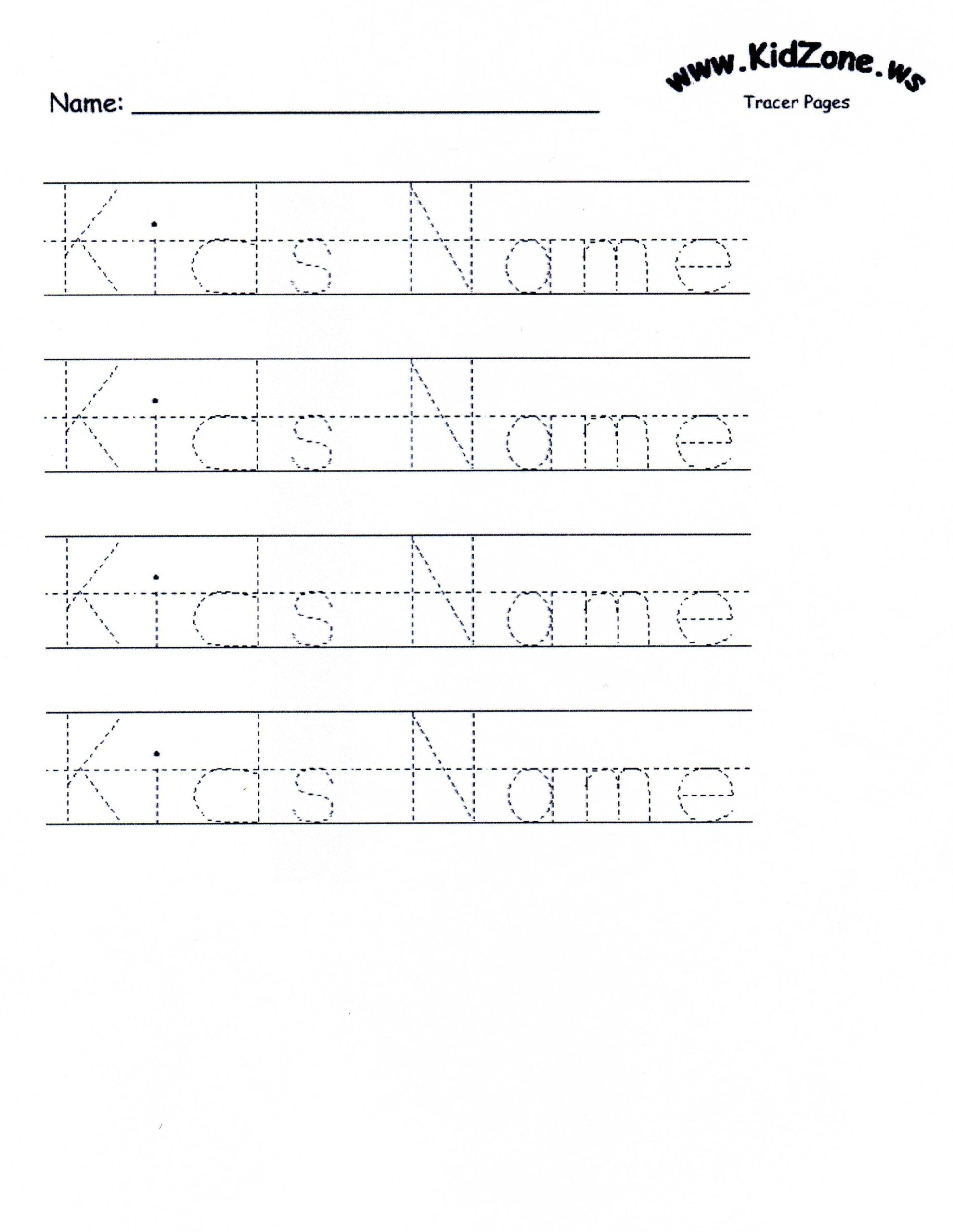 Worksheets : Customizable Printable Letter Pages Name