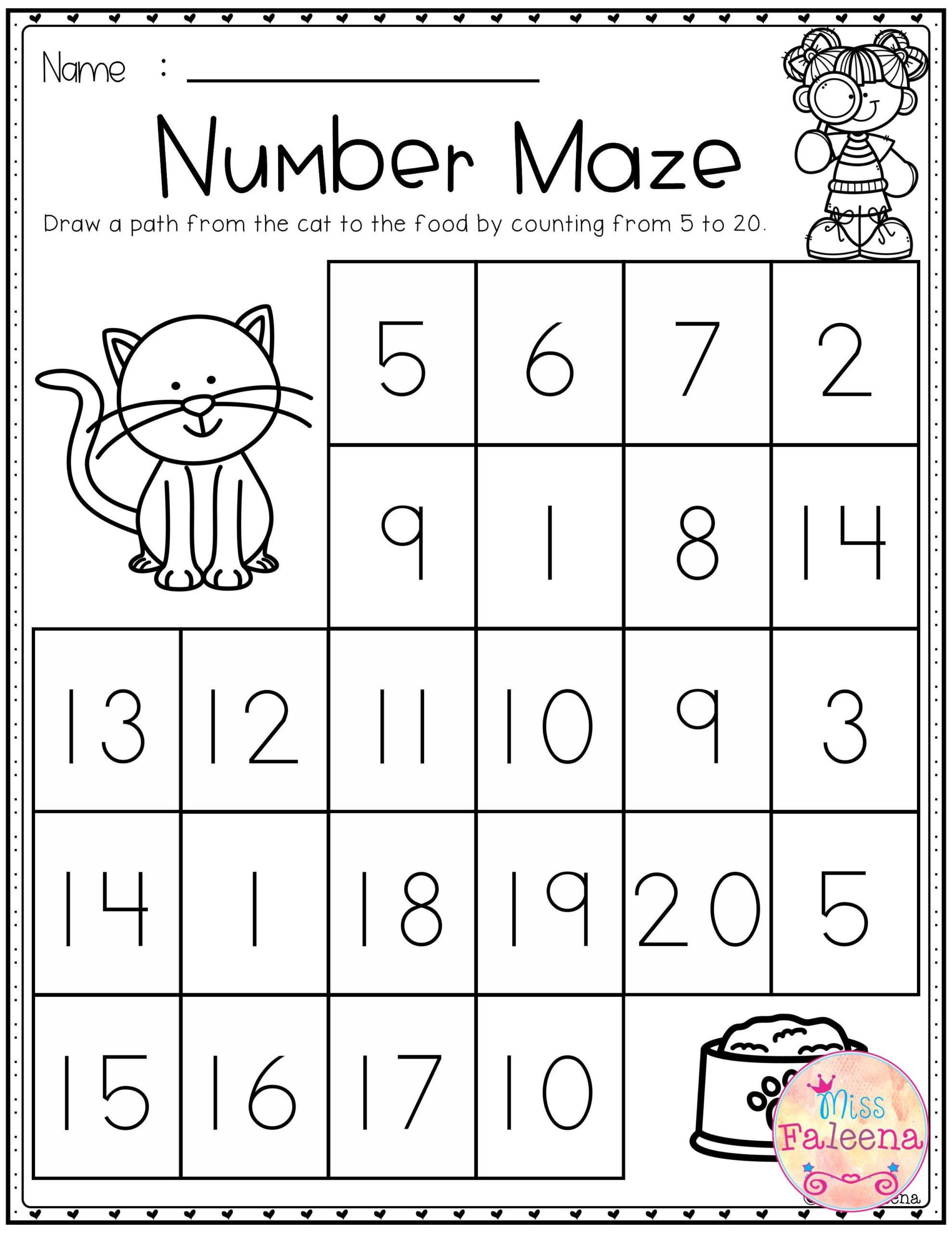 Worksheets Printable Kindergarten Math Free Addition And