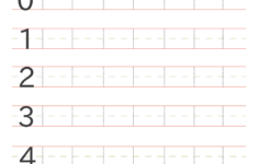 Preschool Worksheets Writing Numbers