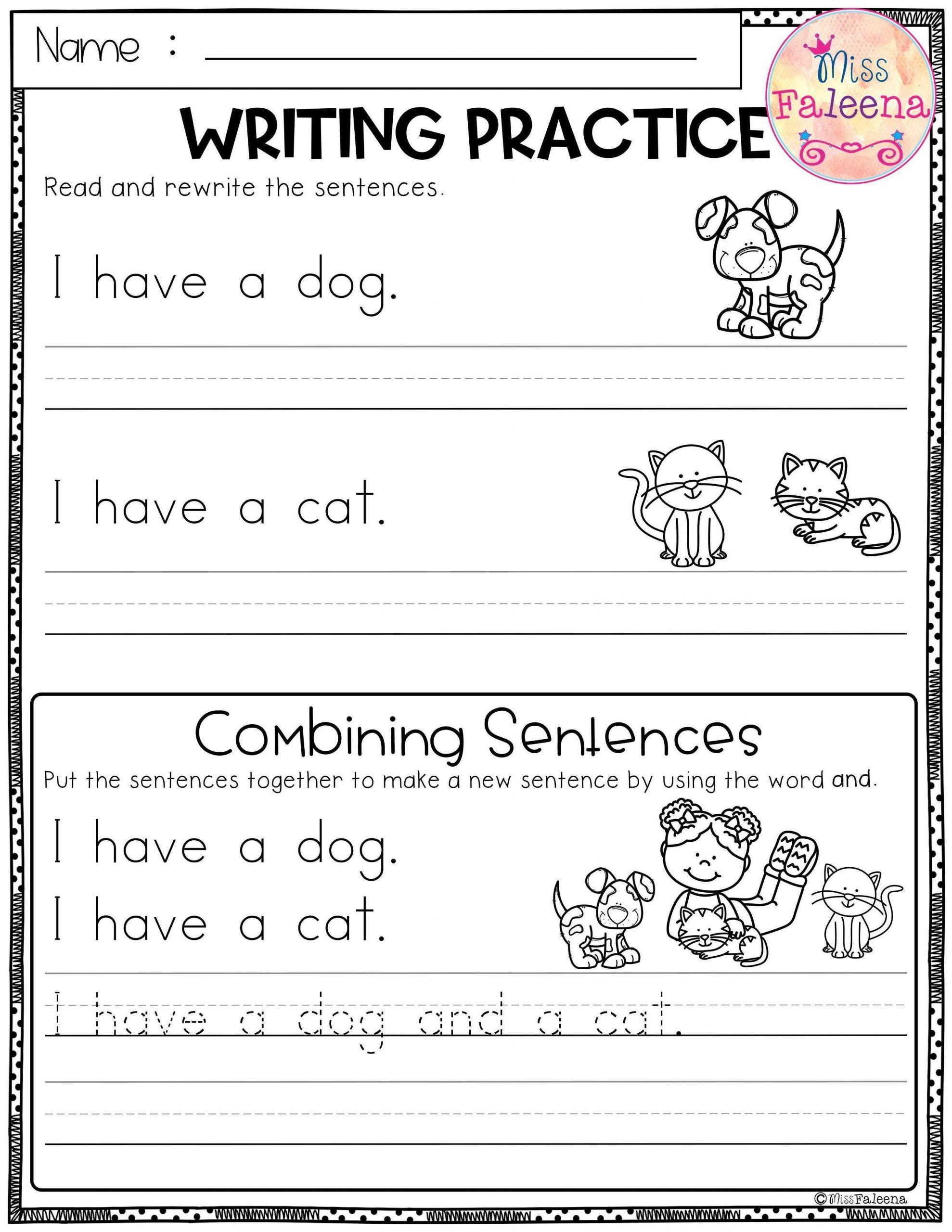 Writing Practise Worksheets